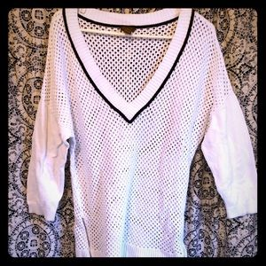 🎉Copper Key XL White and Black Sweater
